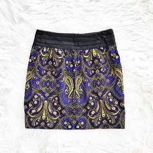 Anthropologie Idra printed corduroy skirt